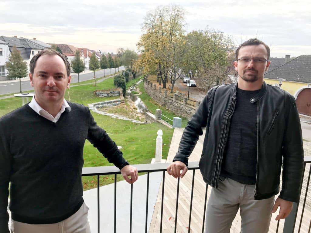 "Markus Landauer mit Laszlo Kovacs vom Restaurant ""Liszt am Bach"""